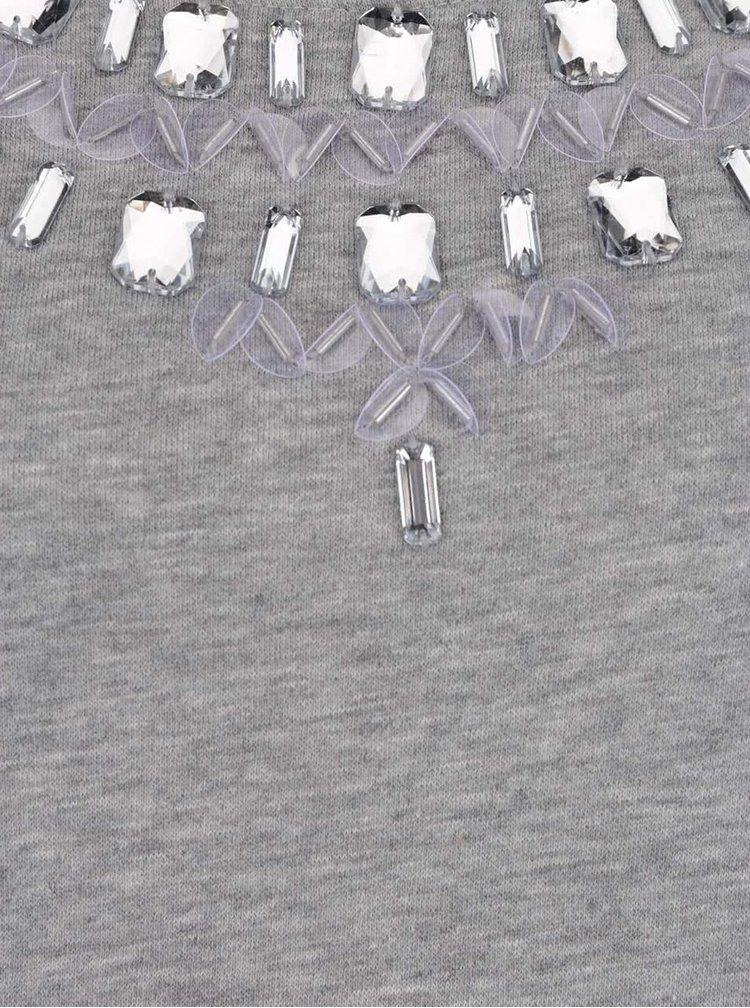 Bluză gri melanj ONLY Wilma cu aplicații