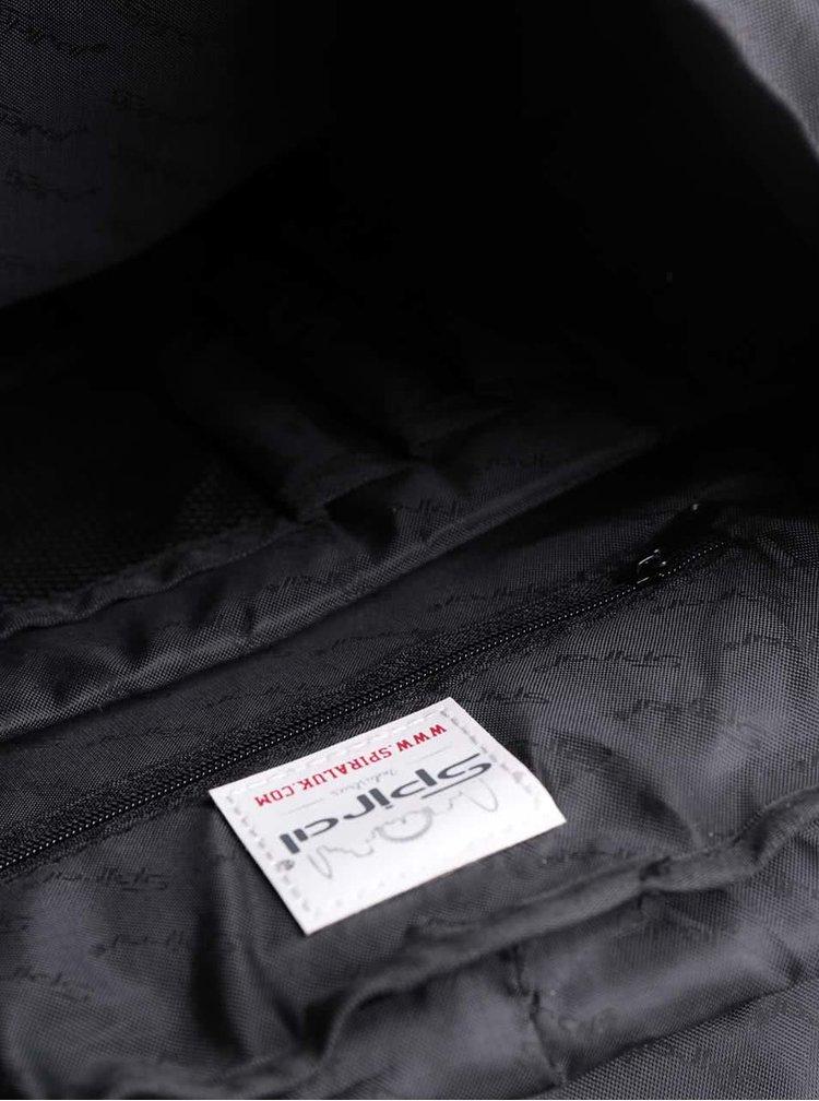 Rucsac negru unisex Spiral Tribeca 14 l cu model