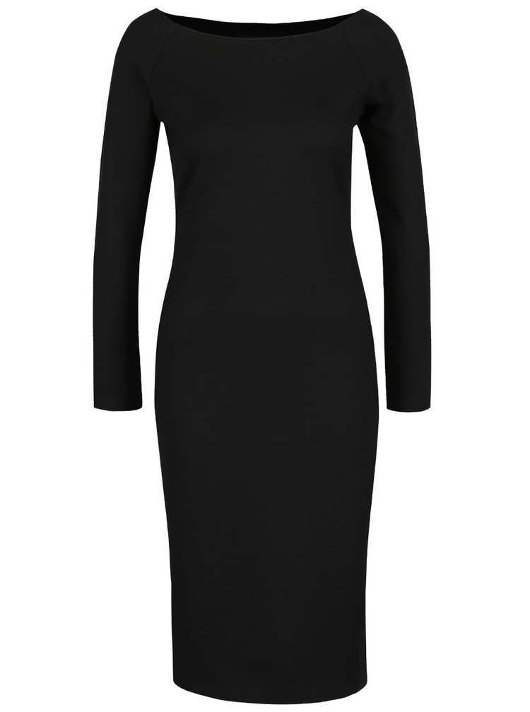 Černé šaty s dlouhými rukávy Selected Femme Lolo