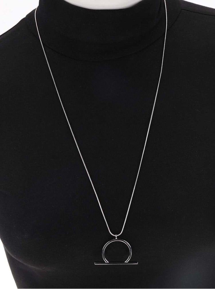 Delší náhrdelník ve stříbrné barvě Pieces Molly