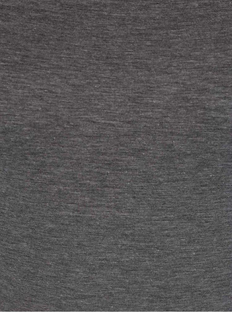 Šedé tričko s dlouhým rukávem Selected Femme Paja