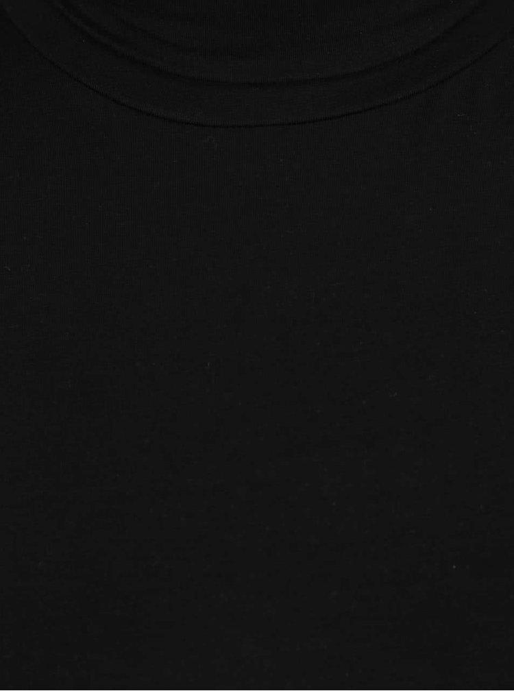Černé tričko s rolákem Selected Femme Paja