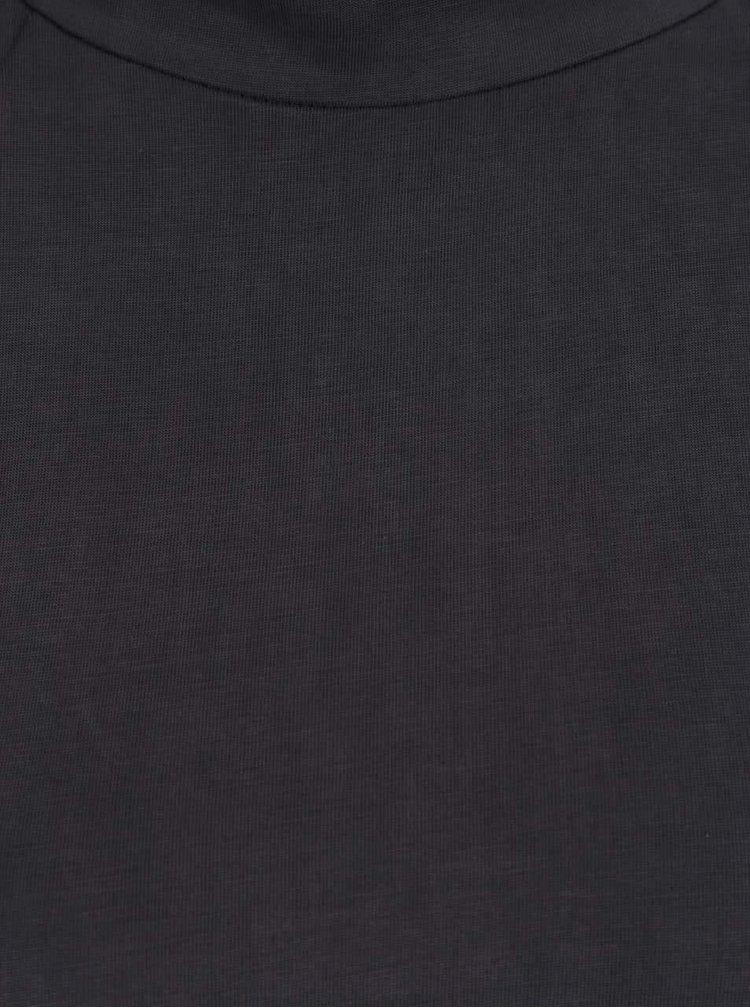 Tmavě šedé šaty se stojáčkem Selected Femme Divia