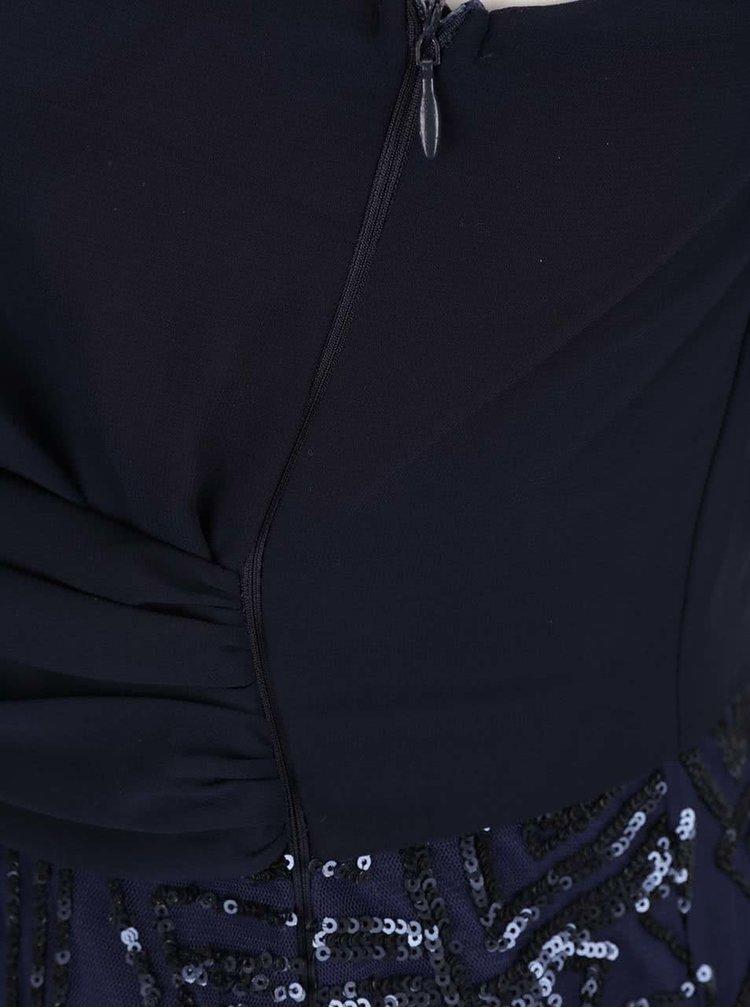 Tmavě modré minišaty s flitrovanou sukní AX Paris