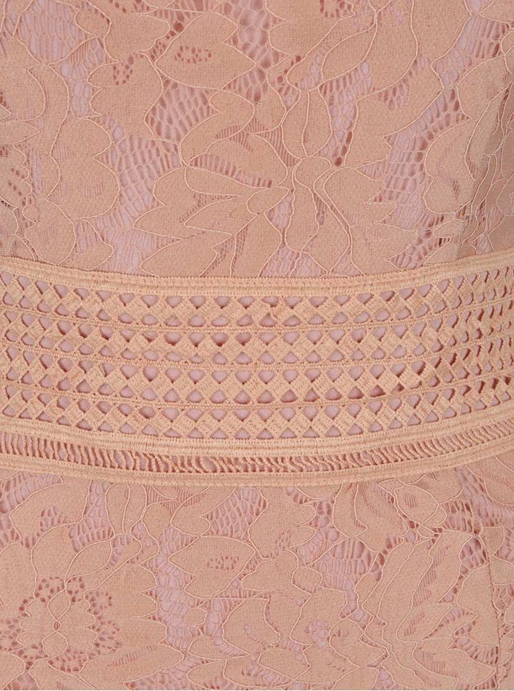 Rochie mini roz trandafiriu AX Paris din dantela cu bretele subtiri