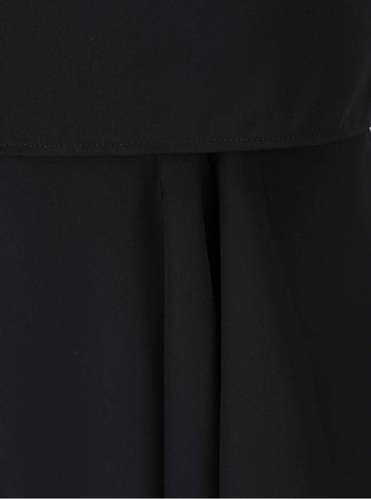 Rochie neagra lunga AX Paris cu decolteu pe umar