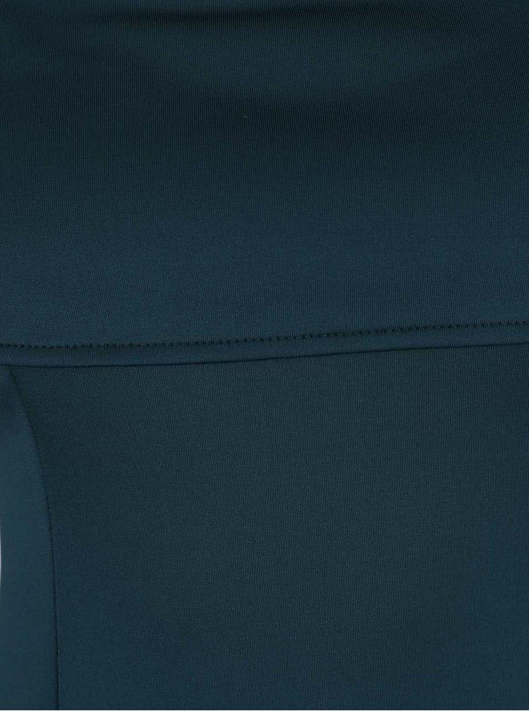 Rochie albastru petrol AX Paris cu decolteu la baza gatului si decupaje