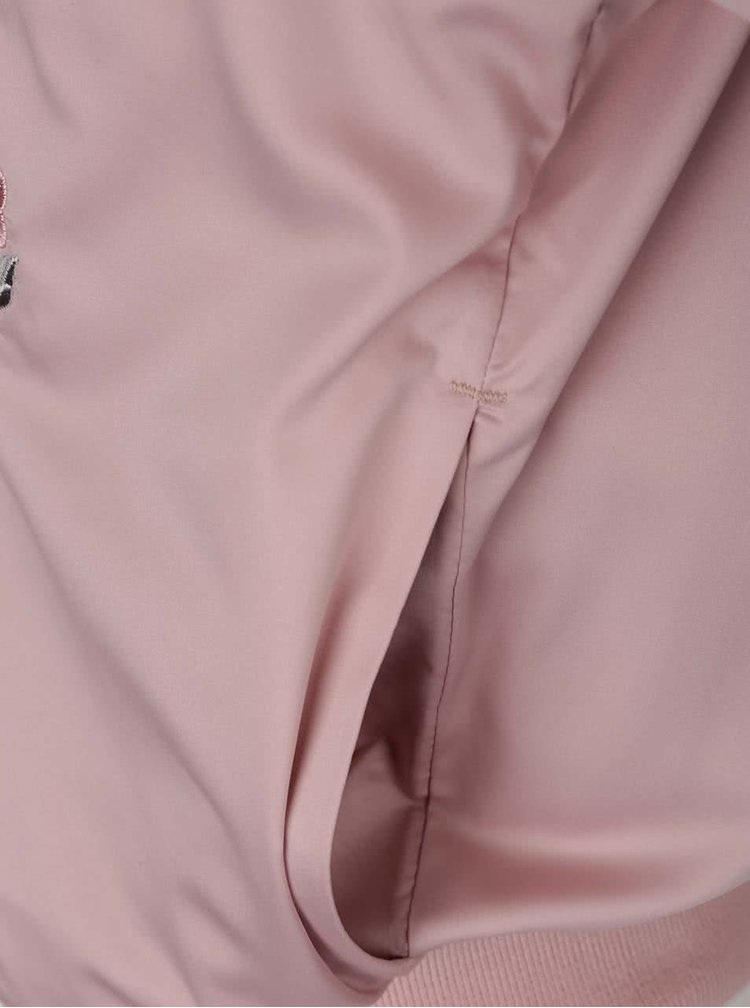 Jachetă bomber roz pal Miss Selfridge Petites cu căptușeală