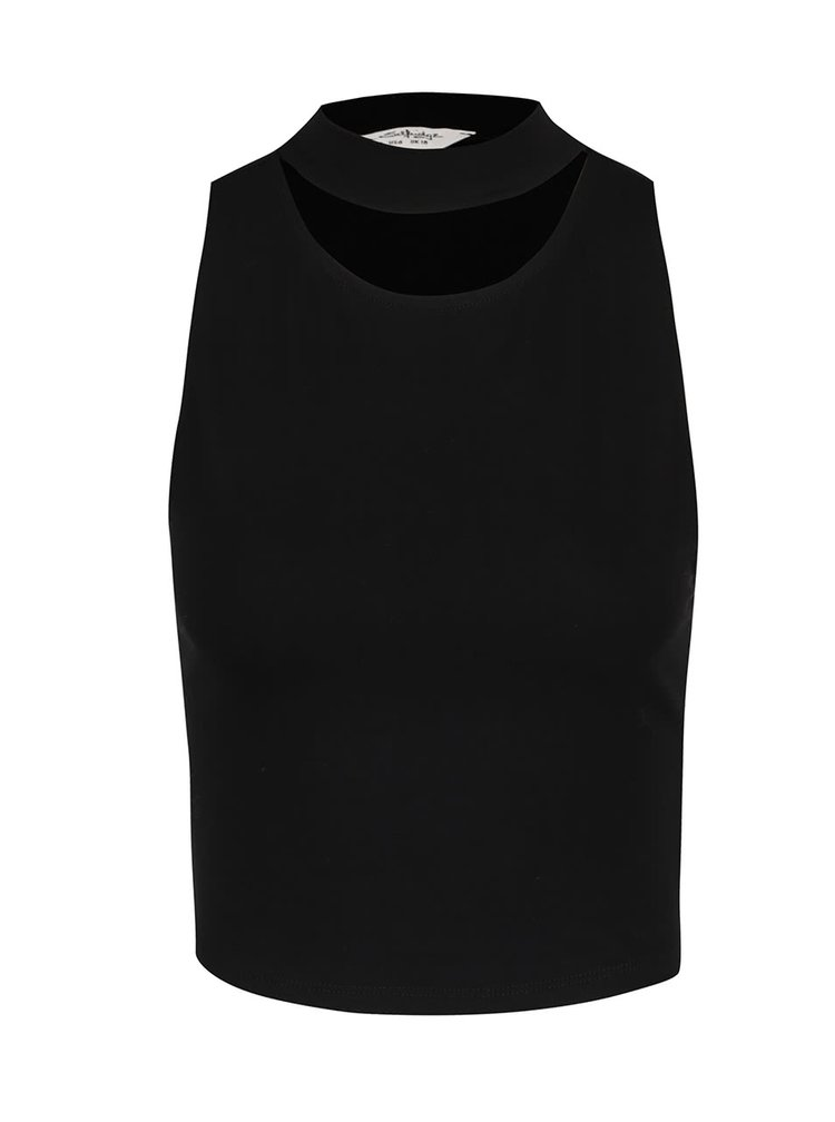 Top crop negru Miss Selfridge