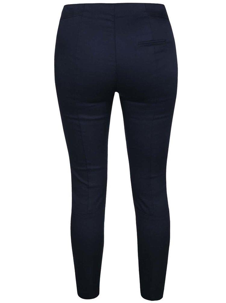 Tmavě modré kalhoty s elastickým pasem VILA Masja