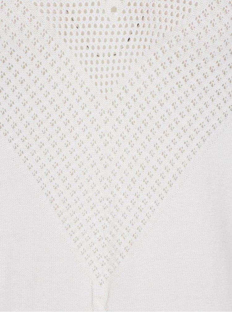 Krémový svetr s jemným perforovaným vzorem VILA Cotana