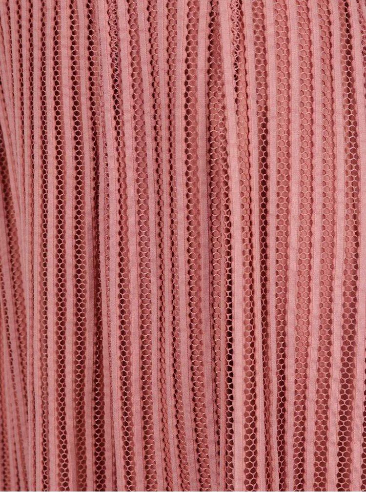 Fustă roz prăfuit cu model VILA Darla