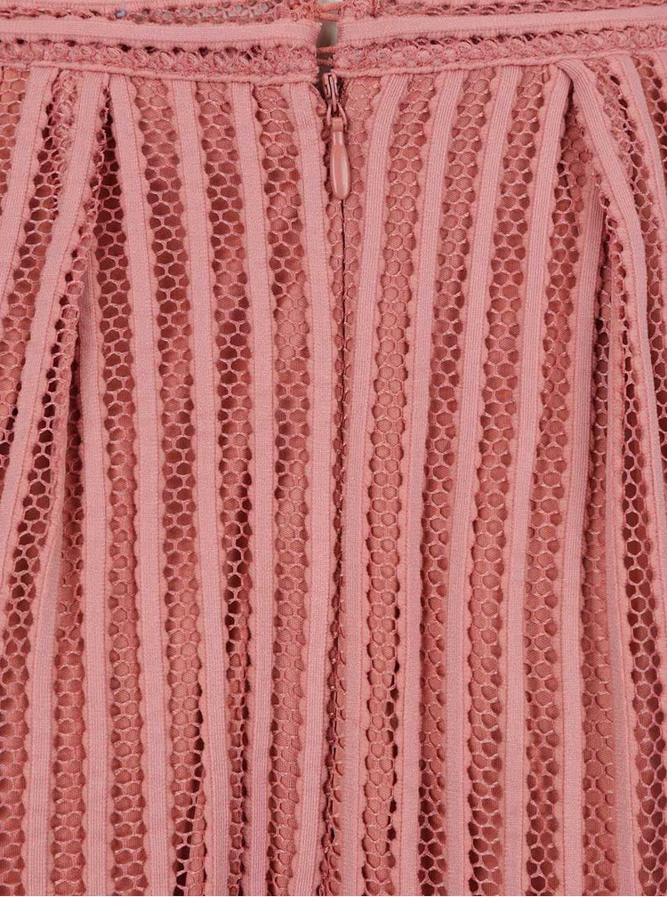 Fusta roz prafuit cu model VILA Darla