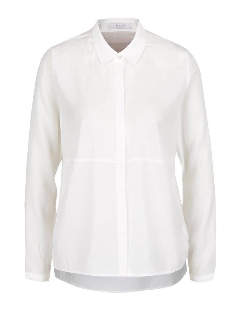 Krémová volná košile s průsvitnými detaily na zádech VILA Cantik