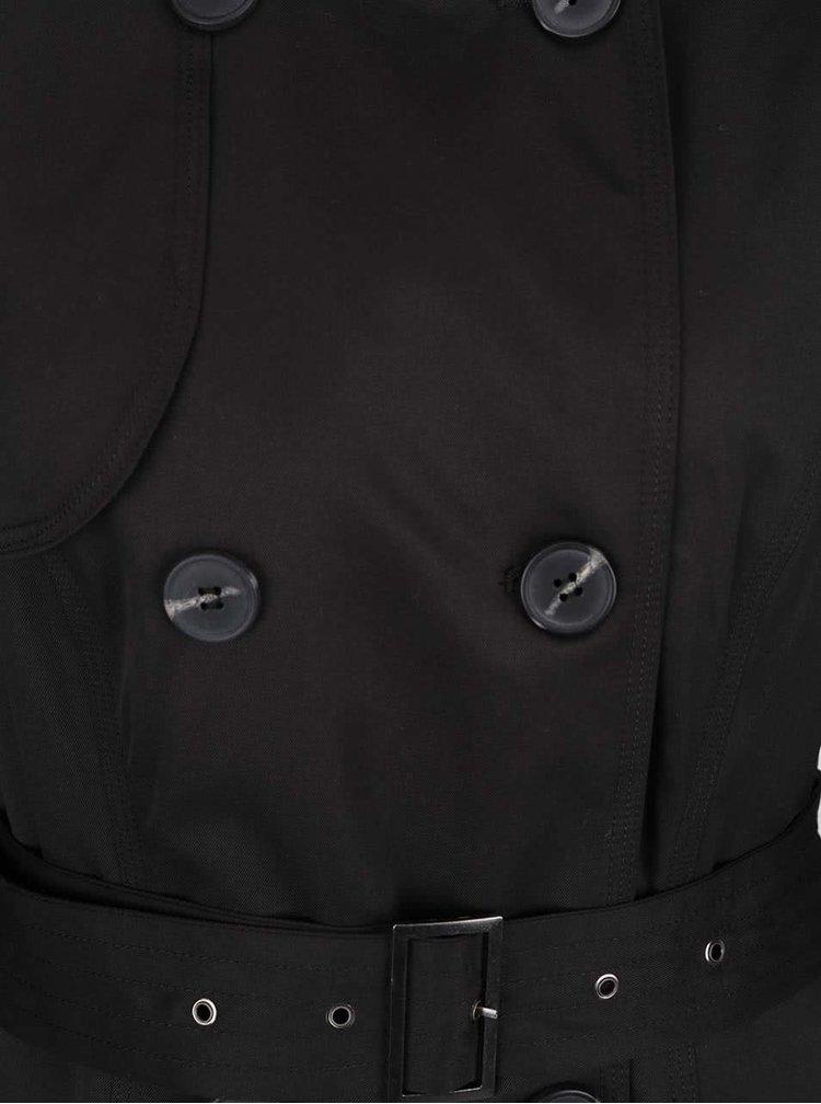 Černý trenčkot VILA Three