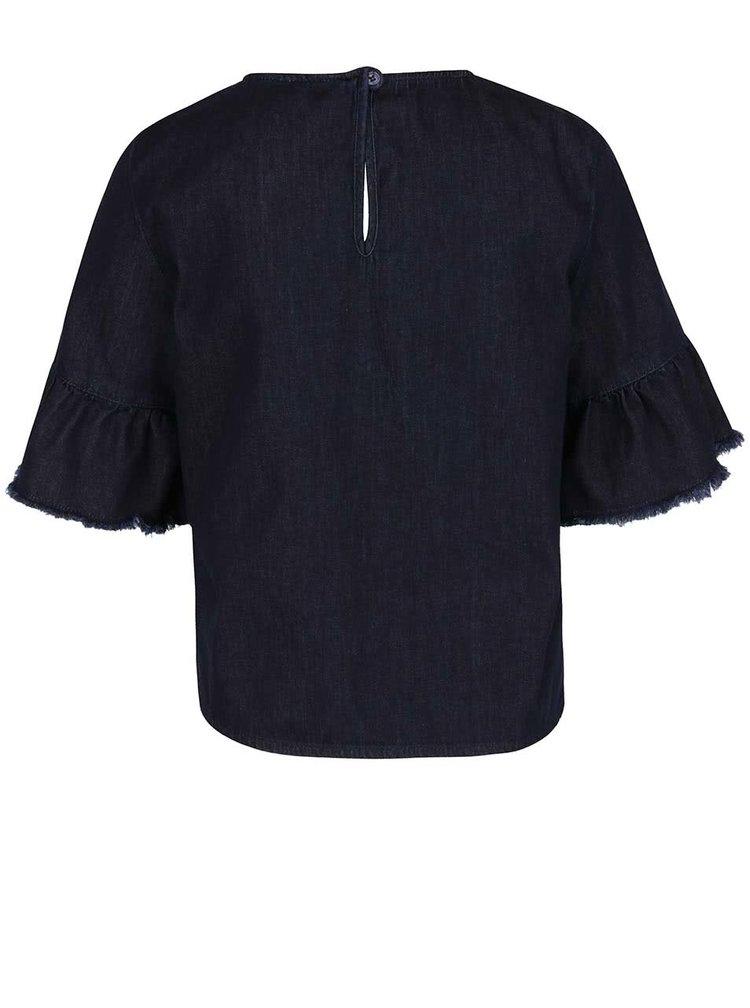 Tmavě modrý džínový top Miss Selfridge