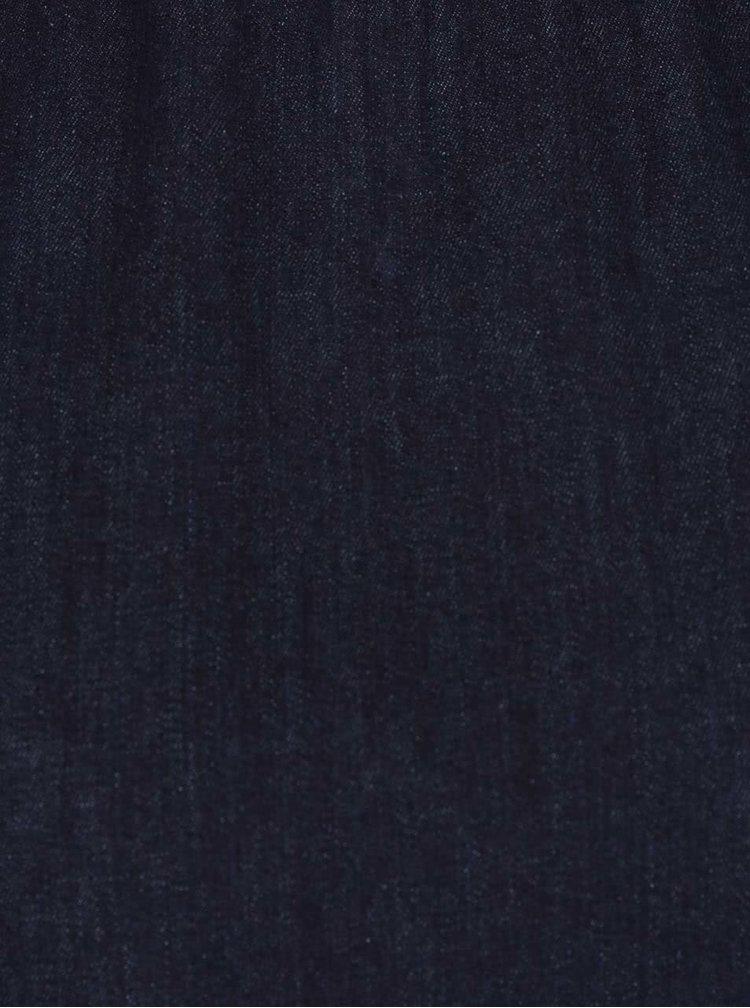 Bluza albastra din denim cu maneci 3/4  Miss Selfridge
