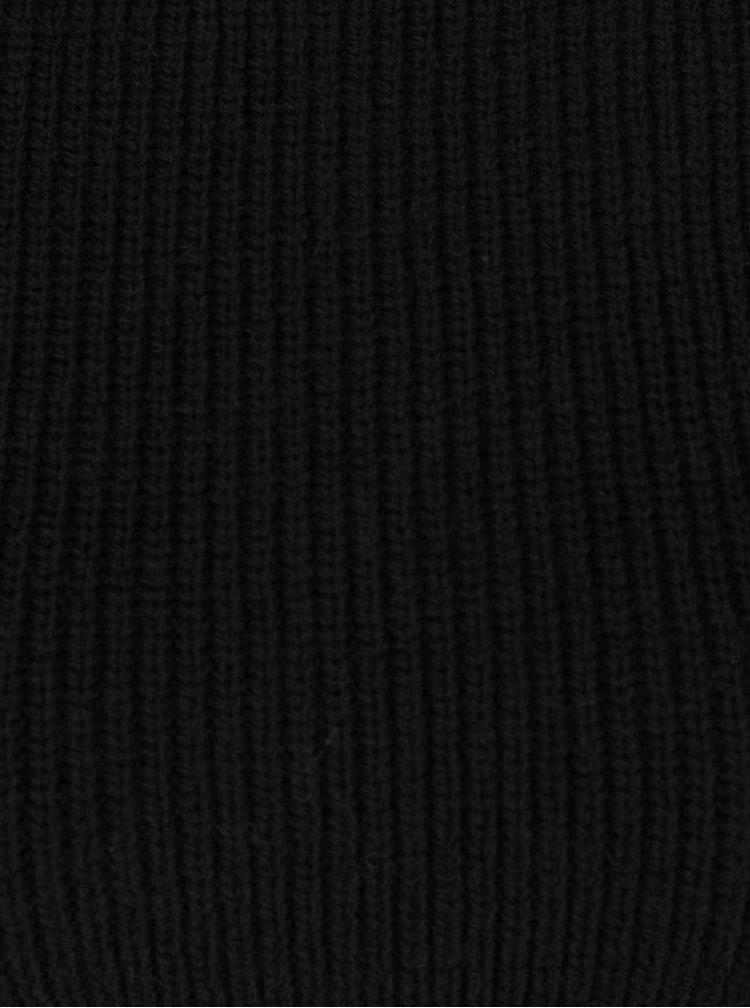 Pulover negru cambrat Miss Selfridge