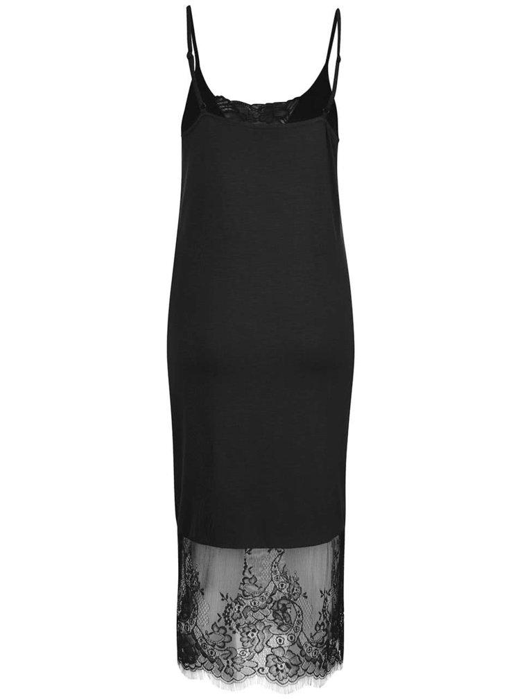 Černé šaty s krajkovými detaily Noisy May Lana