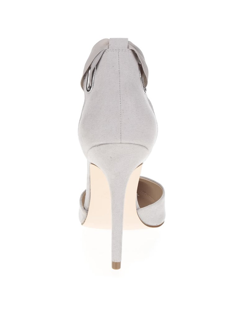 Sandale gri Miss Selfridge cu barete