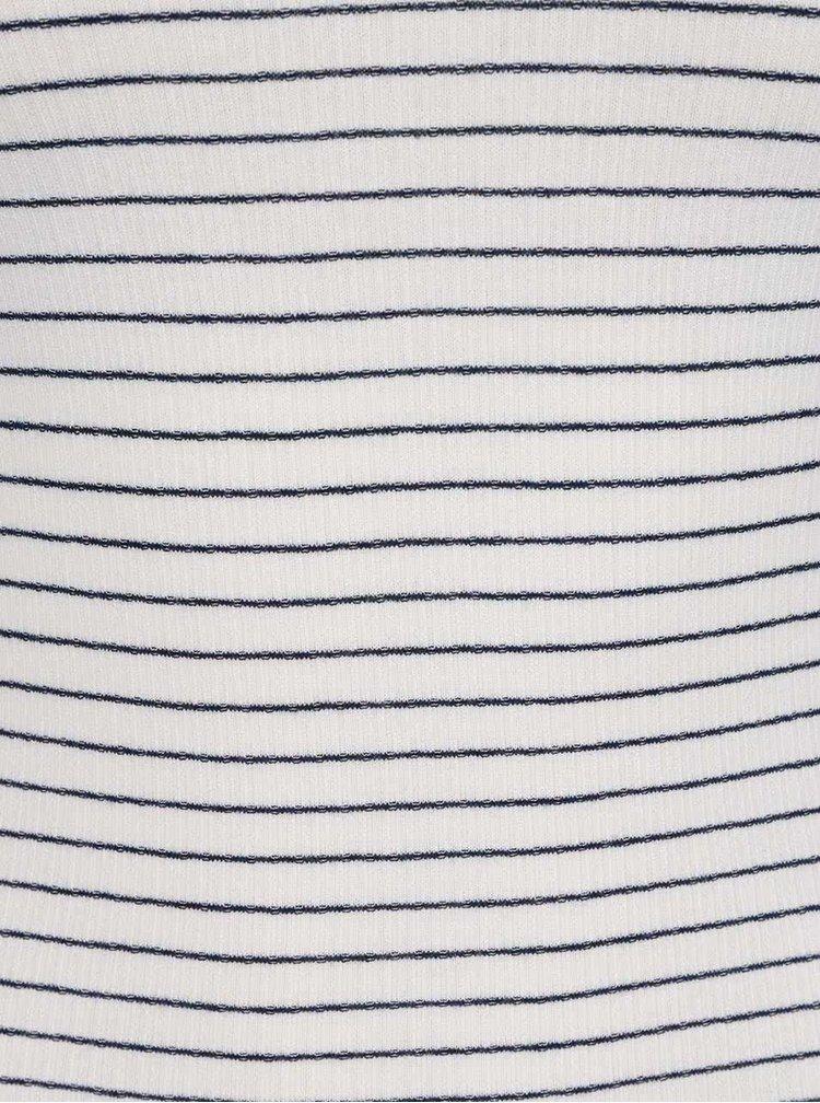 Bluză crem cu dungi Miss Selfridge cu decolteu pe umeri