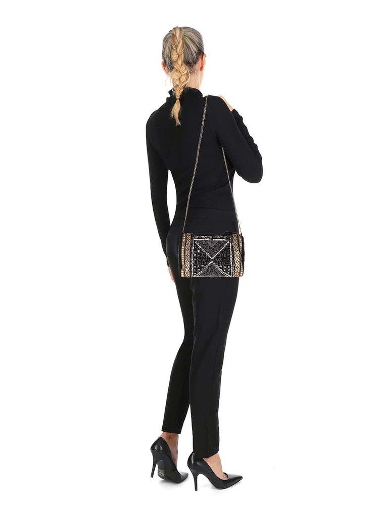 Geantă neagră crossbody Miss Selfridge cu aplicații