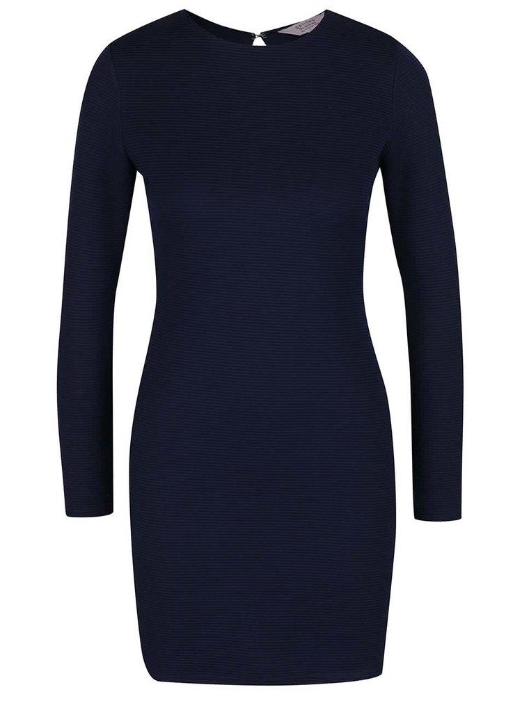 Tmavě modré šaty s výstřihem na zádech Miss Selfridge