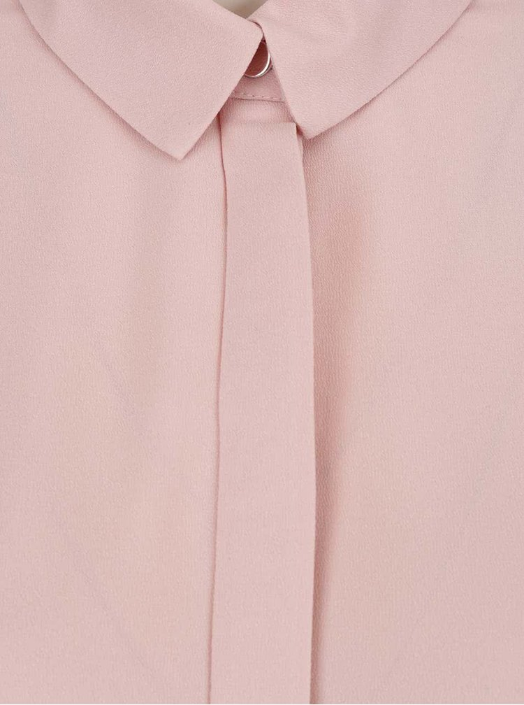 Cămașă roz pal cu crem Miss Selfridge