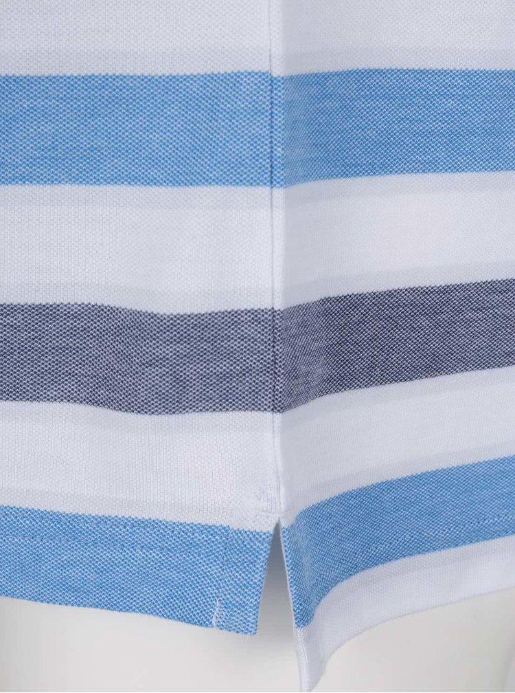 Bílo-modré pruhované polo triko Original Penguin Birdseye
