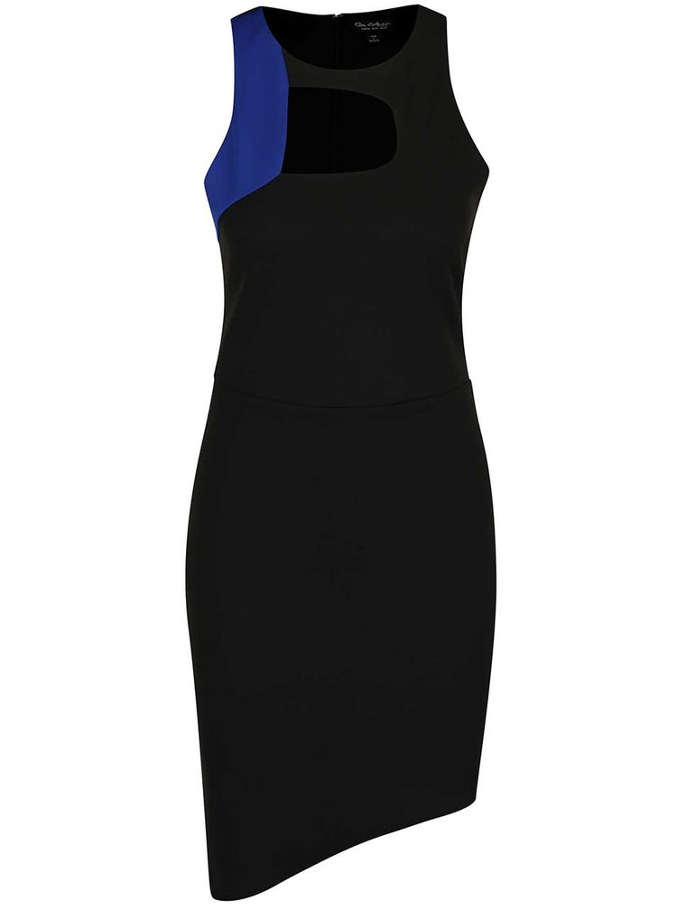 Rochie neagră asimetrică Miss Selfridge cu decupaje