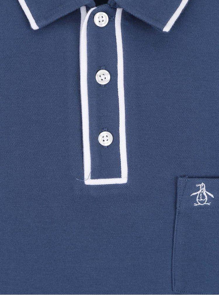 Tmavě modré slim fit polo tričko Original Penguin Earl