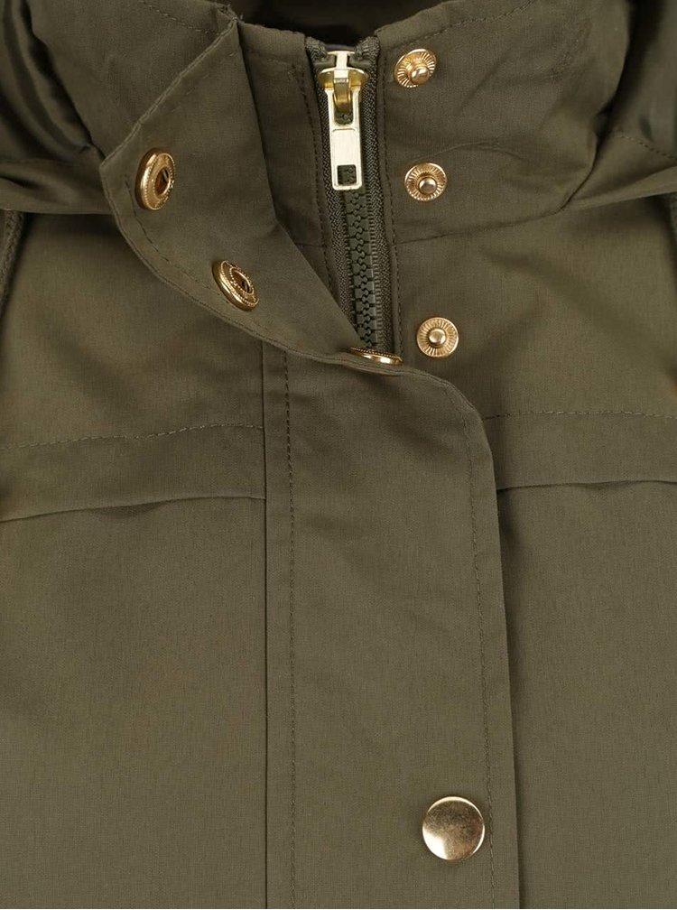 Jachetă kaki cu glugă VERO MODA Pernille