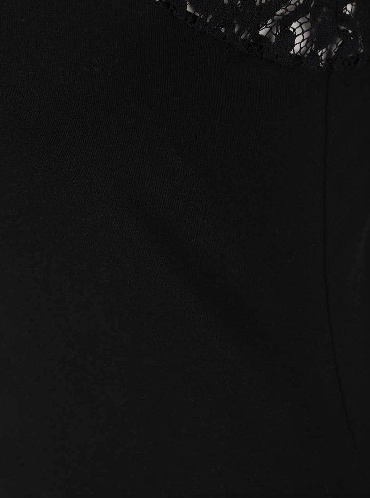 Top negru cu detalii din dantela VERO MODA Maxi My