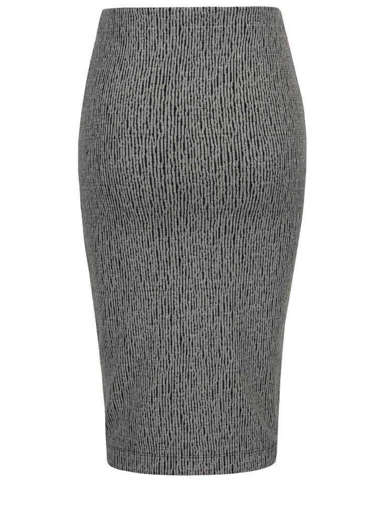 Šedá vzorovaná sukně VERO MODA Clara
