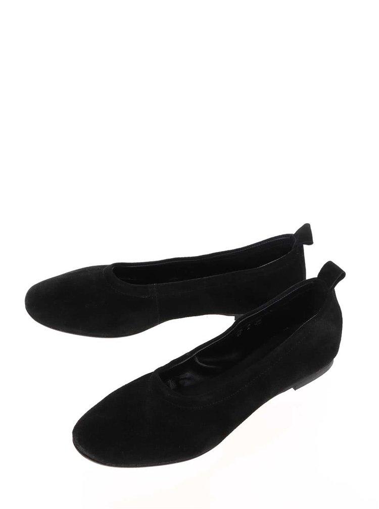 Černé semišové baleríny VERO MODA Liva