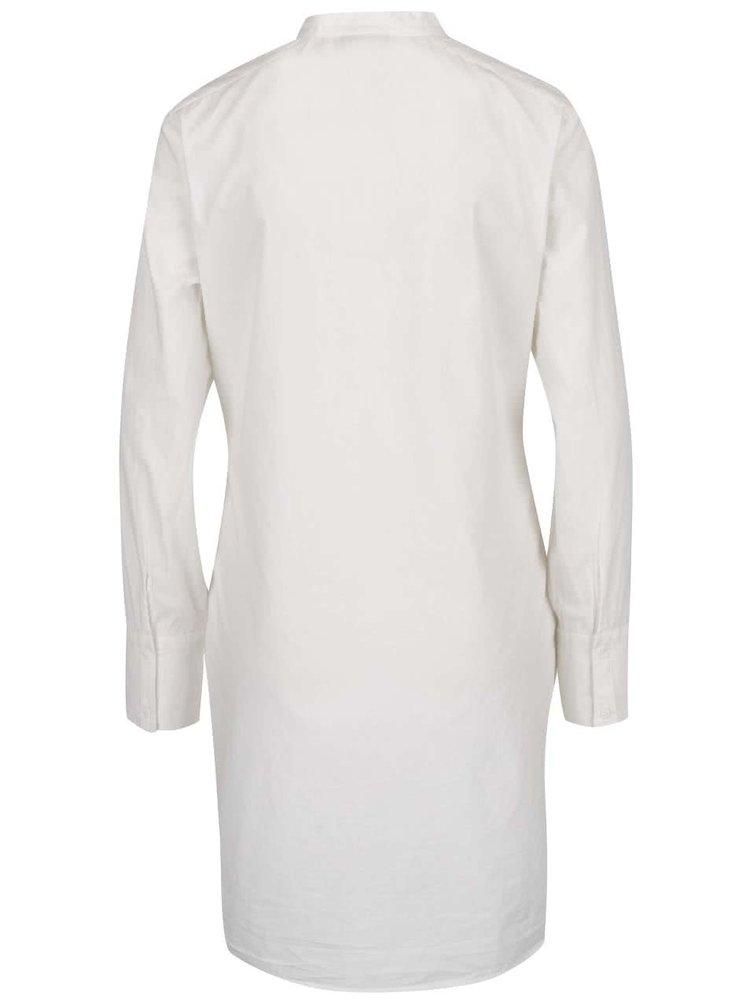 Rochie tunică albă cu panglici în ton VERO MODA Gaia