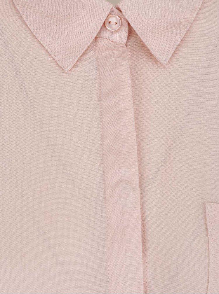 Světle růžová volná košile VERO MODA Vissa
