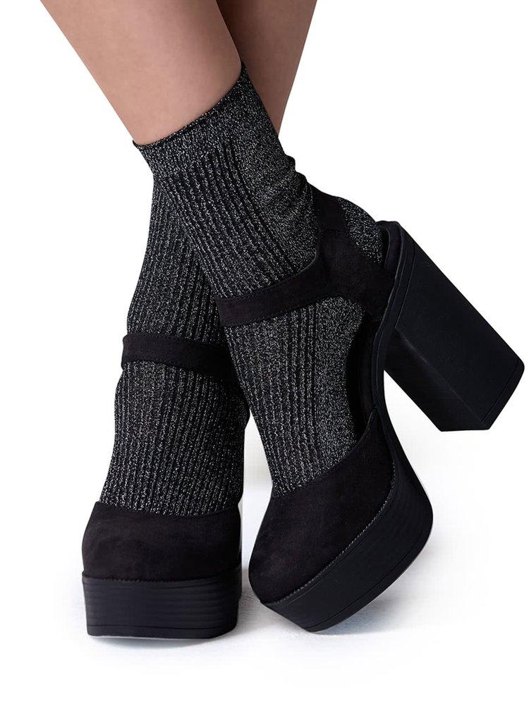 Černé třpytivé  ponožky Gipsy