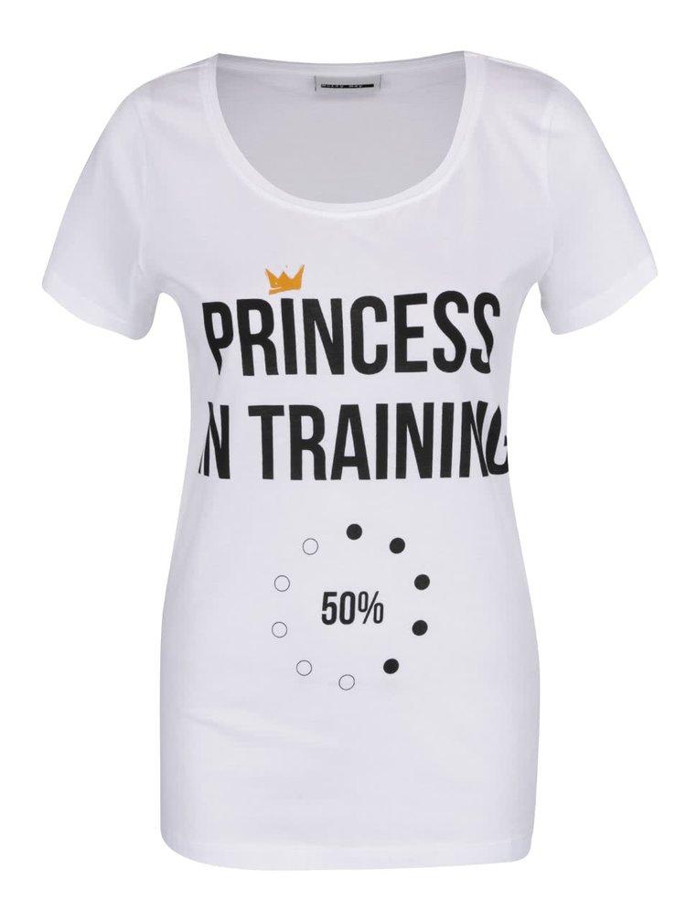 Bílé tričko s potiskem Princess Noisy May Axel