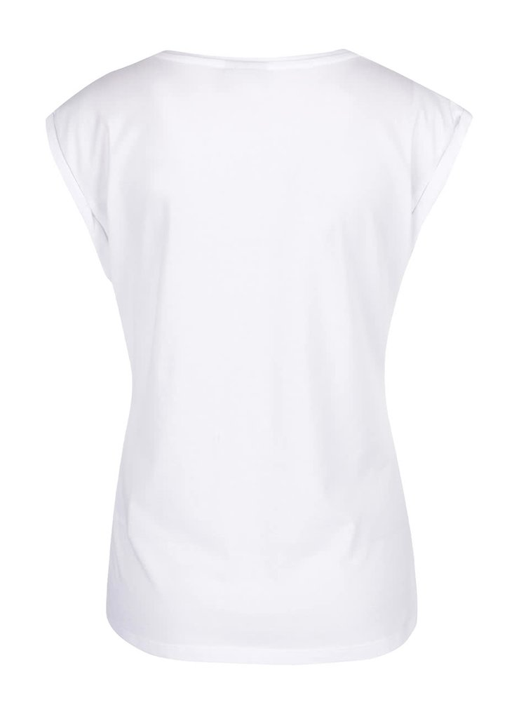 Bílé tričko s barevným potiskem Noisy May Anders