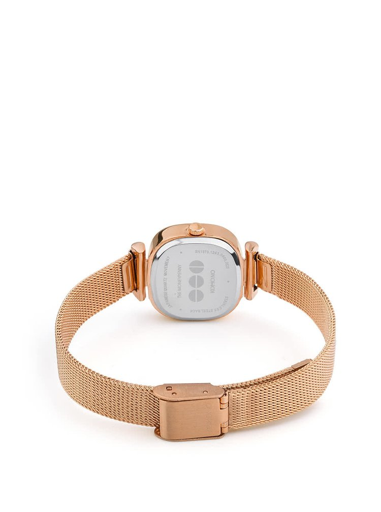 Dámské hodinky ve zlatorůžové barvě s nerezovým páskem Komono Moneypenny Royale