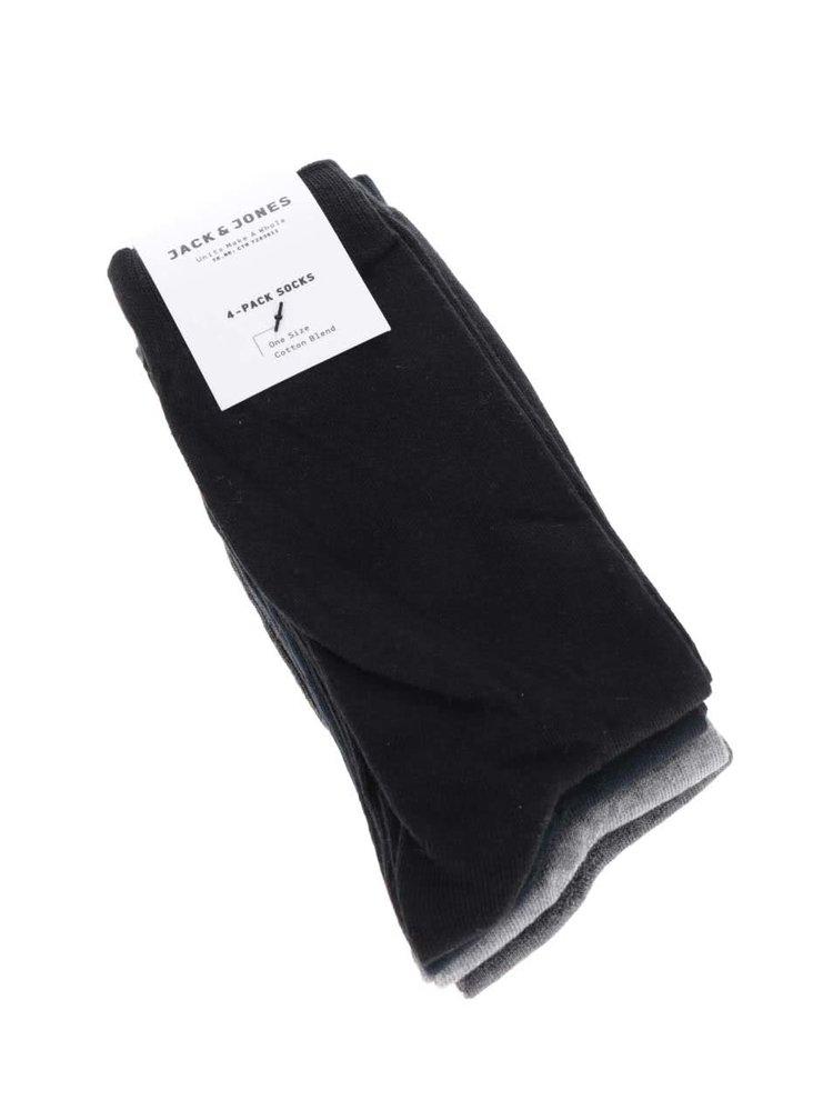 Sada dvou párů ponožek v černé barvě Pieces Polly