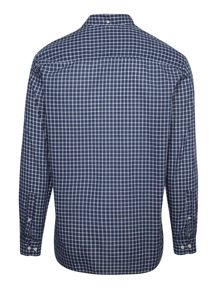 Bílo-modrá pánská kostkovaná košile s.Oliver