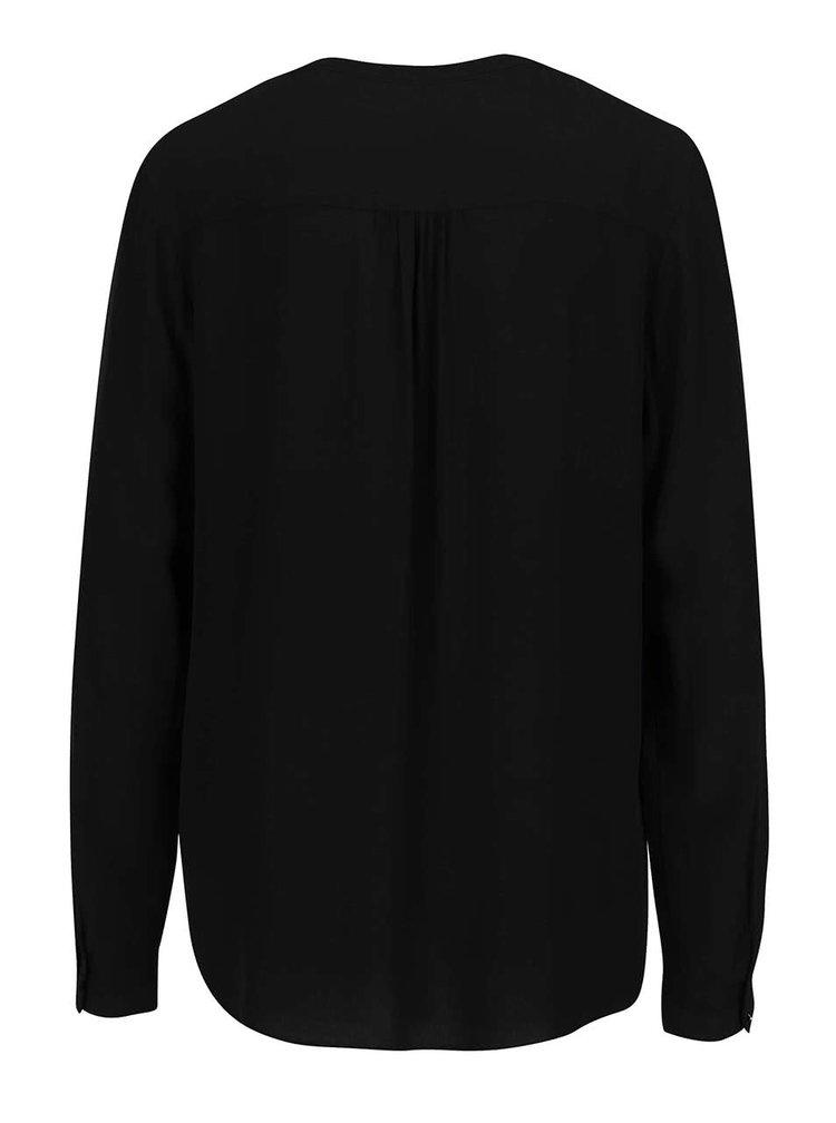 Bluza neagra s.Oliver cu panglica