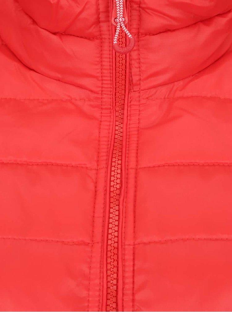 Červená prošívaná bunda ONLY Tahoe
