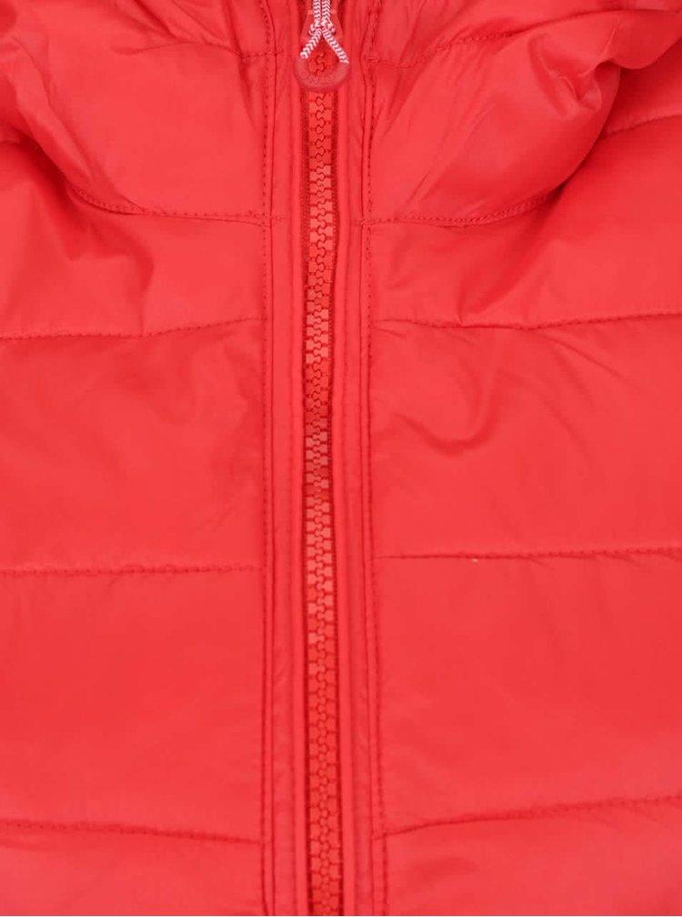 Červená prošívaná vesta s kapucí ONLY Tahoe