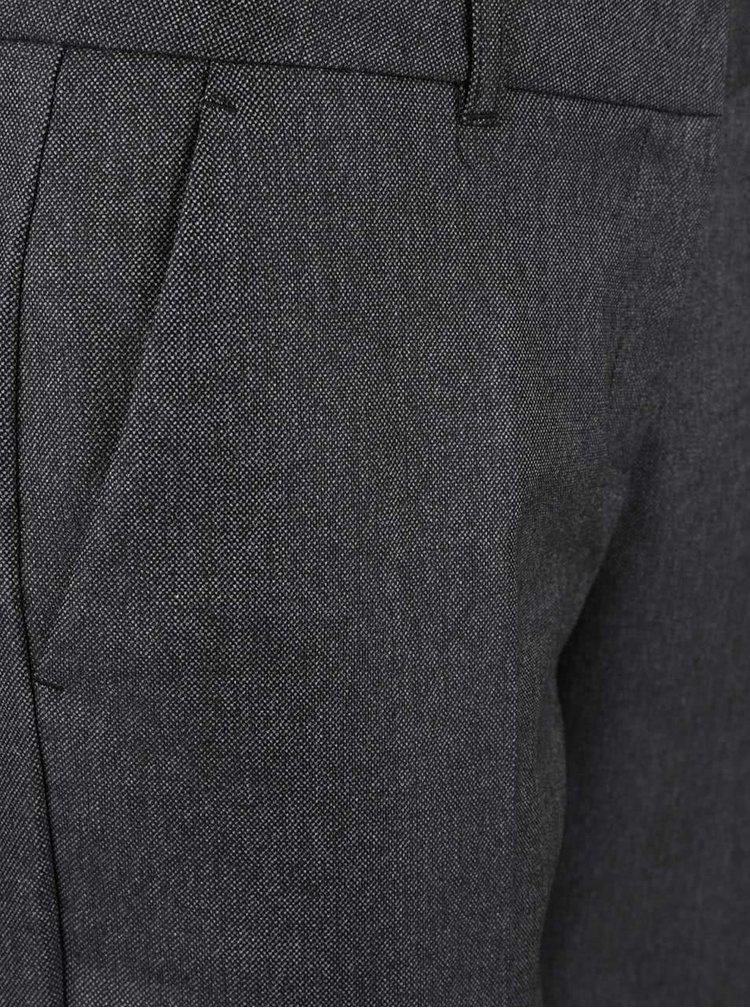 Tmavě šedé dámské zkrácené formální kalhoty s.Oliver