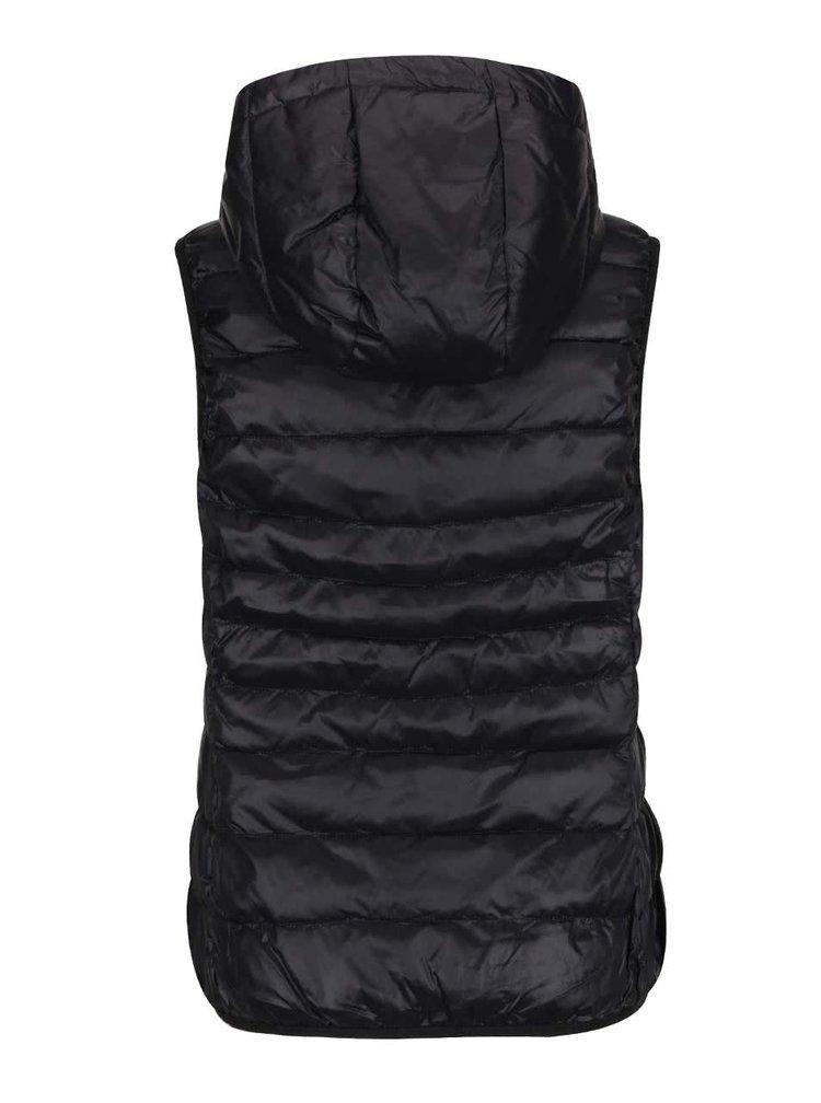 Černá prošívaná vesta s kapucí ONLY Tahoe