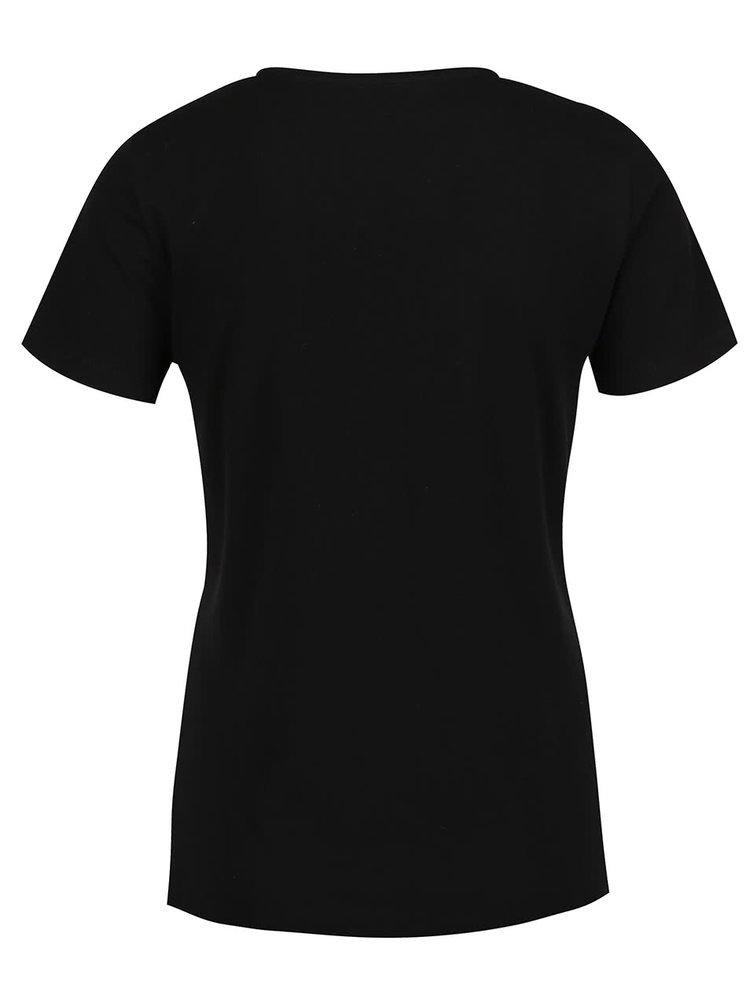 Černé tričko s potiskem ONLY How
