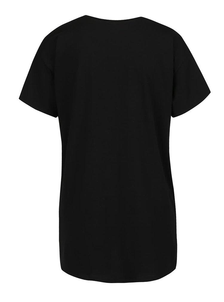 Černé tričko s holografickým potiskem ONLY Winner